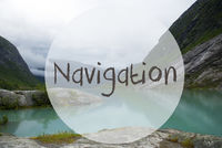 Lake With Mountains, Norway, Text Navigation