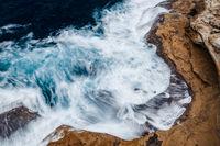 Aerial views ocean textures