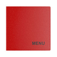 Restaurant menu isolated on white