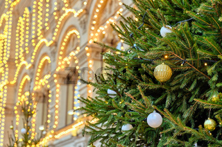 Christmas tree in Moscow, Russia