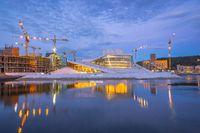 Oslo Opera House at Oslofjord in Oslo city, Norway.