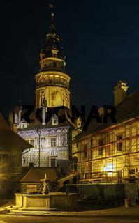 castle tower,Cesky Krumlov,Czech republic