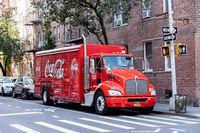 Coca Cola Truck in Manhattan, NYC