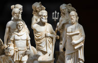 Small statuettes of people from ancient Rome