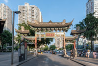 Chinese traditional gate in Chengdu, China
