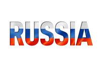russian flag text font