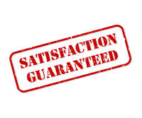 Satisfaction Guaranteed Rubber Stamp Vector