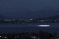 Night scene Lake Constance, lights, landscape