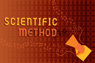 Handwriting text writing Scientific Method. Concept meaning Principles Procedures for the logical hunt of knowledge