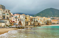 Houses by the sea in Cefalu