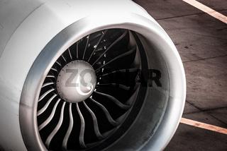 Engine, Turbine Airplane at Frankfurt Airport