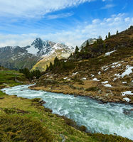 Summer Alps mountain stream