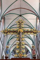 crucifix, Triumphal Cross, cathedral, Schwerin, Mecklenburg-Western Pomerania, Germany, Europe