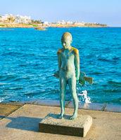 Statue Little Fisherman Paphos, Cyprus