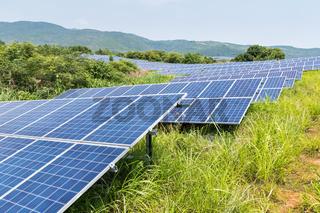 solar energy on the hillside