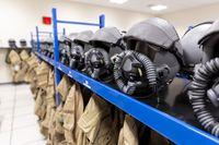 Fighter aircraft pilot uniforms dressing room
