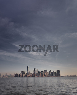 Die Skyline von New York City