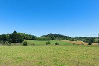 Landscape France with green hills