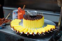 GuiHuaGao cake skewers in a street market