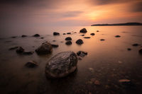 Rocks in the baltic sea