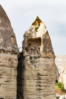 cave house in fairy chimney rock in Goreme