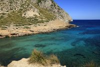 beautiful beach with turquoise sea water, Cala Figuera, Majorca, Spain