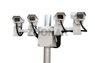 CCTV monitoring security cameras.