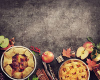 Fruit Pies on rustic background
