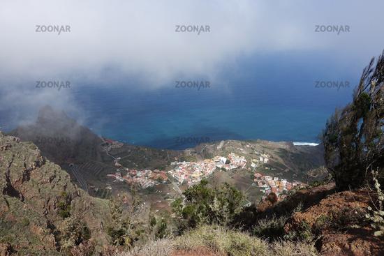 Look to Agulo, La Gomera, Canary Islands, Spain