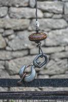 Close up of a metal hook