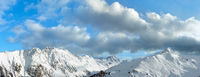 Silvretta Alps winter panorama, Austria