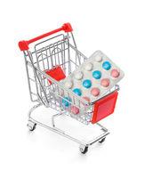 Pills in shopping cart
