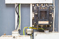 alte elektrische Anlage Leistungsschütz ID 5 DDR