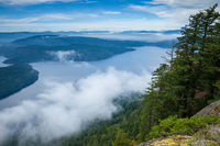 View of the Gulf Islands from Saltspring Island's Mount Maxwell Provincial Park