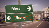 Street Sign to Friend versus Enemy