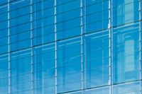 modern glass facade , office building background , window front