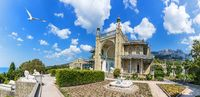 Vorontsov palace in Crimea, Southern facade panoramic view