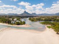 Rampart River in Tamarin, Black River. Mauritius Island.
