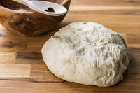 Fresh yeast dough for bread
