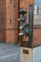 Sculpture of the Town Musicians of Bremen, Riga, Latvia