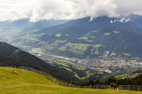 View on Brixen, South Tyrol, Italy
