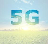 5G text on Kuala Lumpur Malaysia background.