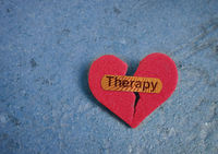 Therapy bandage on heart
