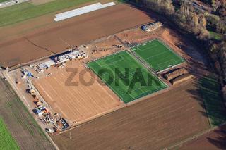 Binzen, Neuanlage der Sportplätze und Sportanlagen
