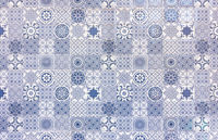 White and blue azulejos texture