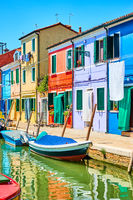 Houses by canal in Burano