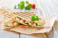 Grilled panini with chicken