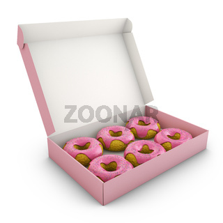 Donuts with pink icing
