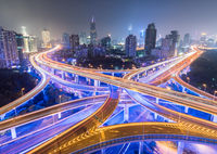 night view of city interchange