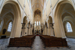 Interior of Church of the Assumption of Our Lady and Saint John the Baptist.